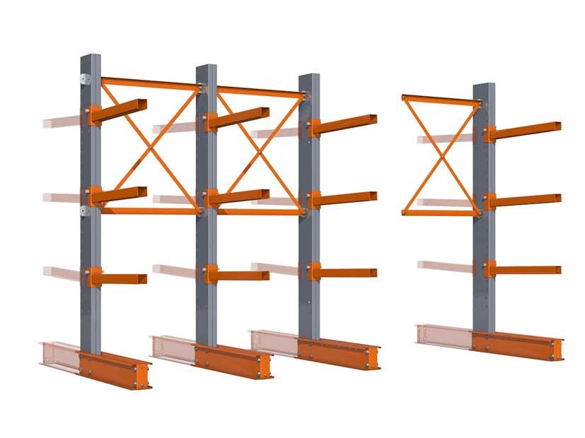 Cantilever racking type SL and SM as basic and add-on module