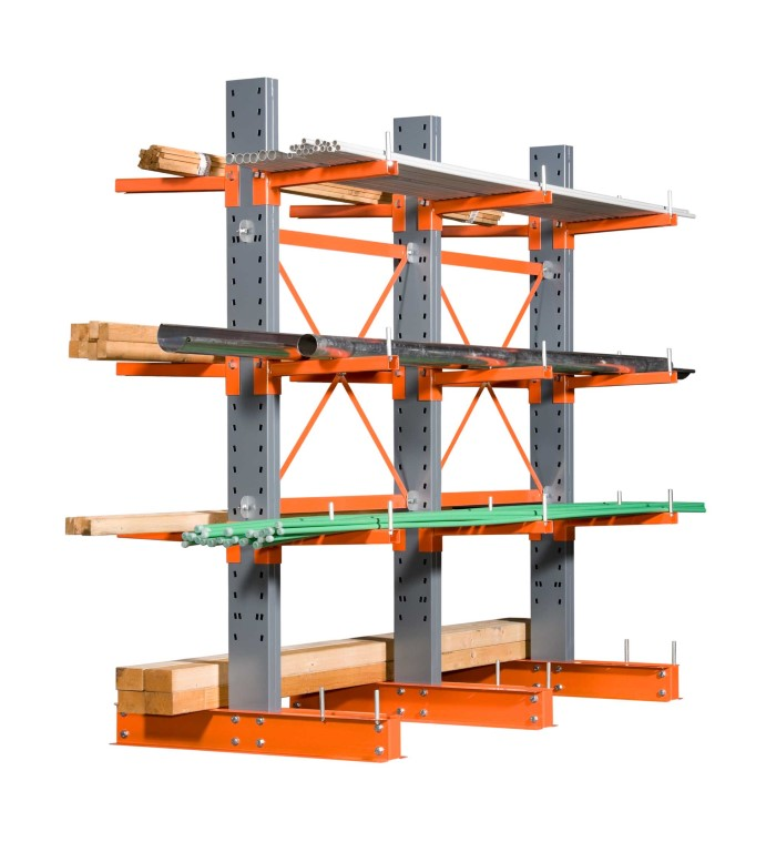 Cantilever racking for medium to heavy loads
