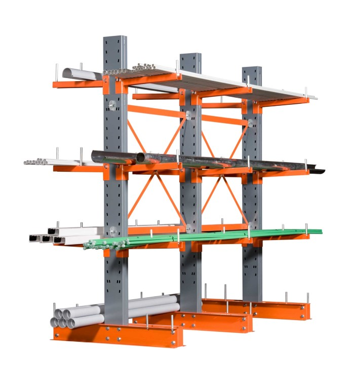 Cantilever racking for medium loads