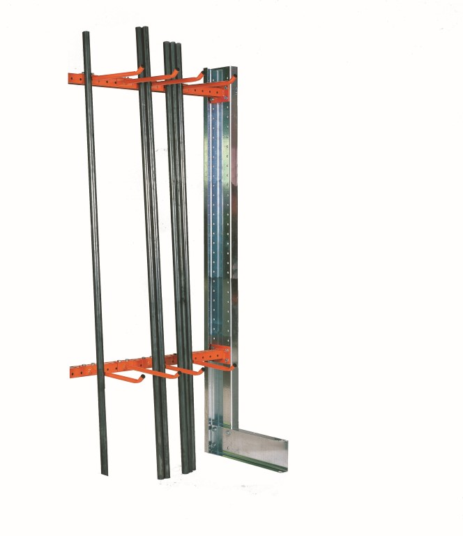 Light-duty cantilever racking type SC for goods stored upright