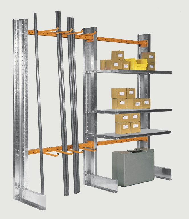 Light-duty cantilever racking type SC for the workshop