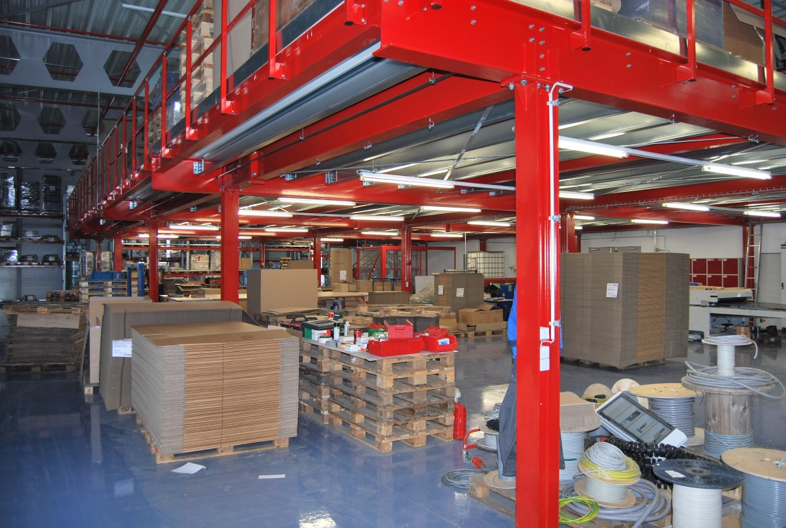 Structural steel platforms provide additional space