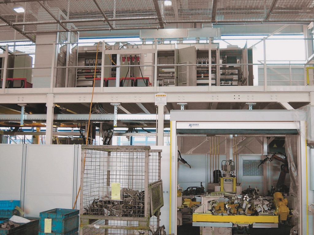 Mezzanines to span over production lines
