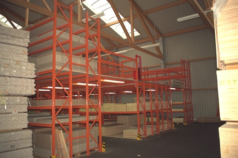 Pallet racking for the wood processing industry