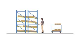 Pallet racking for last-in first-out (LIFO) systems