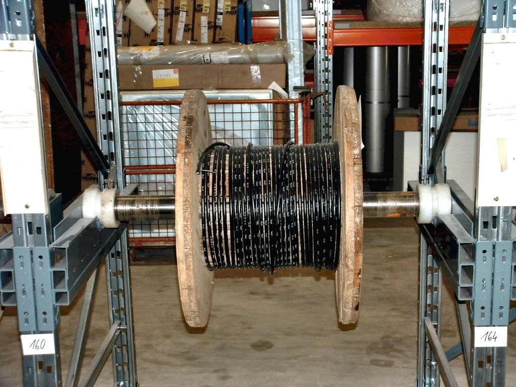 Cable drum racks