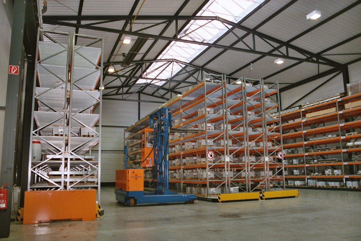 Pallet racking for storing doors for the timber trade