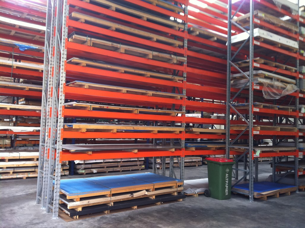Pallet racking for the timber industry indoors
