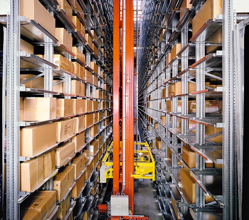 AKL systems automated small parts warehouse for mail order companies