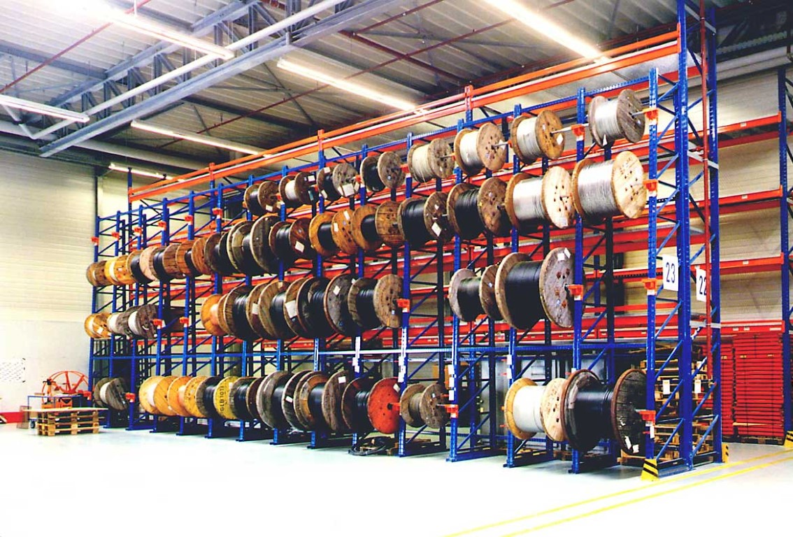 Multi-position systems for storing cable drums