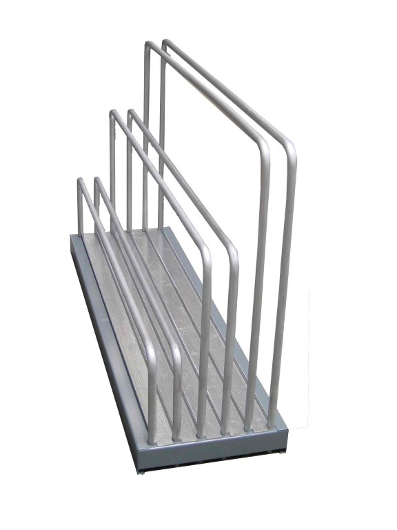 Sheet plate rack with different heights of dividers