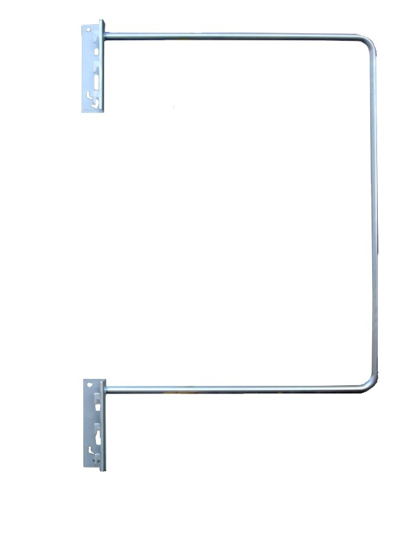 Vertical bar rack with detailed view of a divider