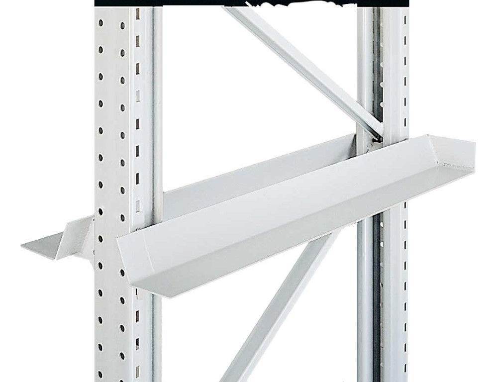 Single-position systems with pallet supports and welded push-through protection